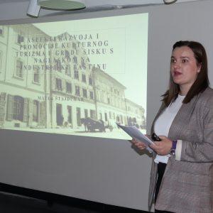 """Predavanje: """"Aspekti razvoja i promocije kulturnog turizma u gradu Sisku s naglaskom na industrijsku baštinu"""""""